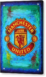Manchester United Vintage Acrylic Print