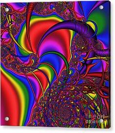 Mandala 164 Acrylic Print by Rolf Bertram