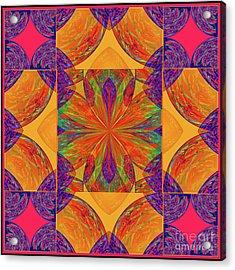Acrylic Print featuring the digital art Mandala #2  by Loko Suederdiek