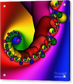 Mandala 211 Acrylic Print by Rolf Bertram