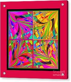 Acrylic Print featuring the digital art Mandala #25 by Loko Suederdiek