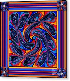 Acrylic Print featuring the digital art Mandala #3 by Loko Suederdiek