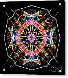 Acrylic Print featuring the digital art Mandala 3313 by Rafael Salazar