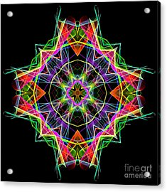 Acrylic Print featuring the digital art Mandala 3324a by Rafael Salazar