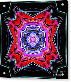Acrylic Print featuring the digital art Mandala 3325 by Rafael Salazar