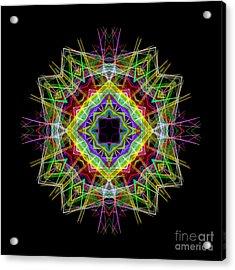 Acrylic Print featuring the digital art Mandala 3333 by Rafael Salazar