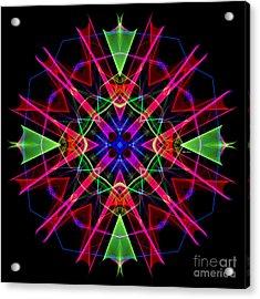Acrylic Print featuring the digital art Mandala 3351 by Rafael Salazar