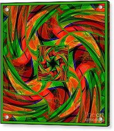 Acrylic Print featuring the digital art Mandala #36 by Loko Suederdiek