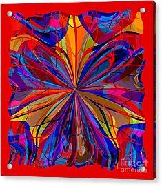 Acrylic Print featuring the digital art Mandala #4 by Loko Suederdiek