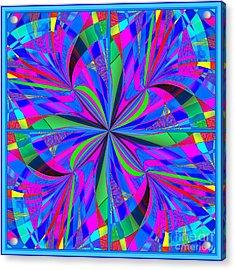 Acrylic Print featuring the digital art Mandala #46 by Loko Suederdiek