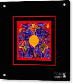 Acrylic Print featuring the digital art Mandala #5 by Loko Suederdiek