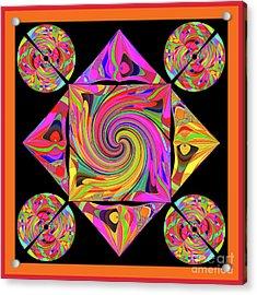 Acrylic Print featuring the digital art Mandala #50 by Loko Suederdiek
