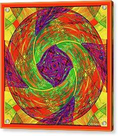 Acrylic Print featuring the digital art Mandala #55 by Loko Suederdiek