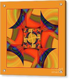 Acrylic Print featuring the digital art Mandala #56 by Loko Suederdiek