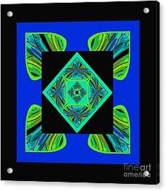 Acrylic Print featuring the digital art Mandala #6 by Loko Suederdiek