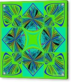 Acrylic Print featuring the digital art Mandala #7 by Loko Suederdiek
