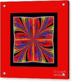 Acrylic Print featuring the digital art Mandala #8 by Loko Suederdiek