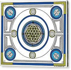 Mandala Anese Acrylic Print by J P Lambert
