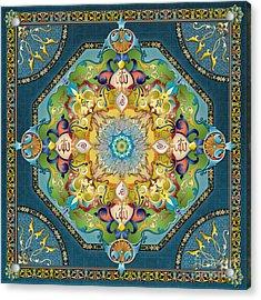 Mandala Arabesque Acrylic Print by Bedros Awak