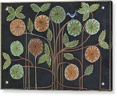 Breath, Body, Mandala Branches  Acrylic Print by Kim Alderman