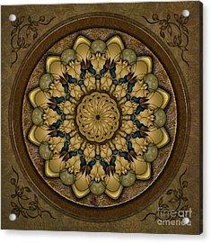 Mandala Earth Shell Acrylic Print by Bedros Awak