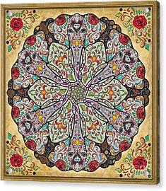 Mandala Elephants Acrylic Print