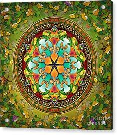 Mandala Evergreen Acrylic Print