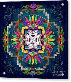 Mandala Festival Masks V1 Acrylic Print by Bedros Awak