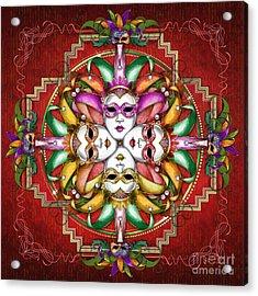 Mandala Festival Masks V2 Acrylic Print
