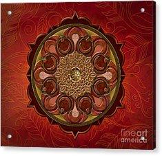 Mandala Flames Sp Acrylic Print