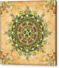 Mandala Flora Acrylic Print