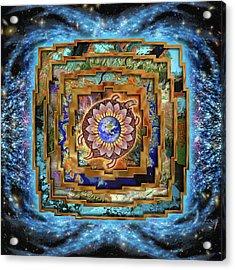 Mandala Gaia Acrylic Print by Mark Myers