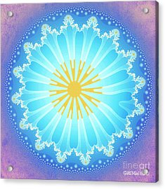Acrylic Print featuring the digital art Mandala by Jutta Maria Pusl