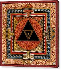 Mandala Kalichakre For Her Acrylic Print by Mark Myers