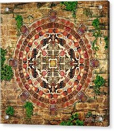 Mandala Maya Acrylic Print by Bedros Awak