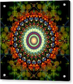 Mandala Of Loves Journey Acrylic Print by Stephen Lucas