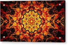 Mandala Of The Sun In A Dark Kingdom Acrylic Print