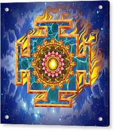 Mandala Shiva Acrylic Print by Mark Myers