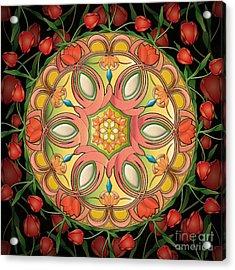 Mandala Tulipa Acrylic Print by Bedros Awak