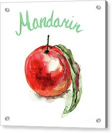 Mandarin Fruits Acrylic Print