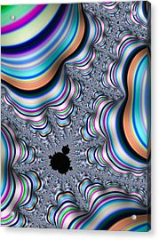 Mandelbrot Set In Colorful Fractal Valley Acrylic Print