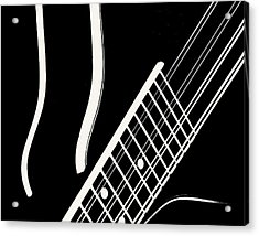 Acrylic Print featuring the digital art Mandolin Close Bw by Jana Russon