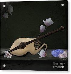 Mandolin Acrylic Print by Ellerslie Art