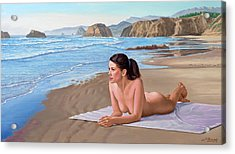 Mandy At The Beach Acrylic Print