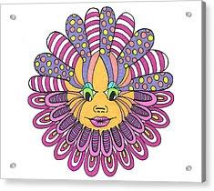 Mandy Flower Acrylic Print