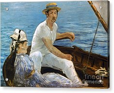 Manet: On A Boat, 1874 Acrylic Print by Granger