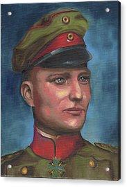 Manfred Von Richthofen The Red Baron Acrylic Print