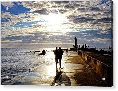 Acrylic Print featuring the photograph Mangalsala Pier by Fabrizio Troiani