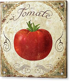 Mangia Tomato Acrylic Print by Mindy Sommers