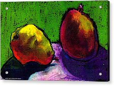 Mango And Pear Acrylic Print by Angelina Marino